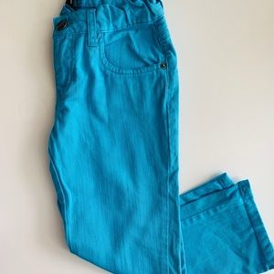 Boot cut turquoise jean